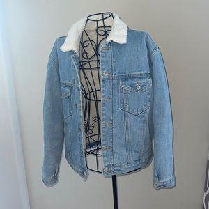 Brandy Melville Fur Lined Jean/Denim Jacket